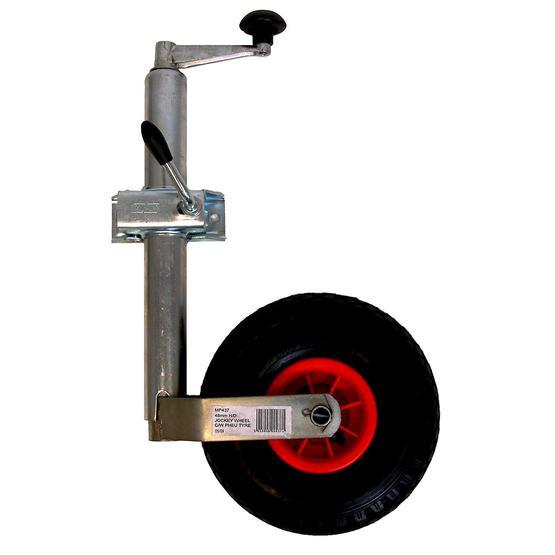 Maypole Jockey Wheel Pneumatic and Clamp, 48 mm image 1