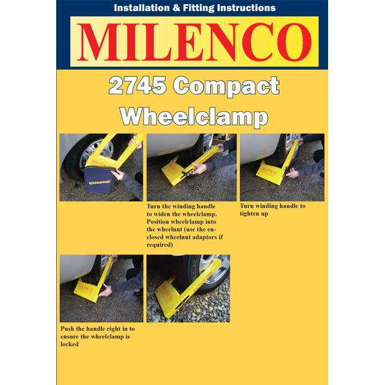 Milenco Compact Wheelclamp image 7