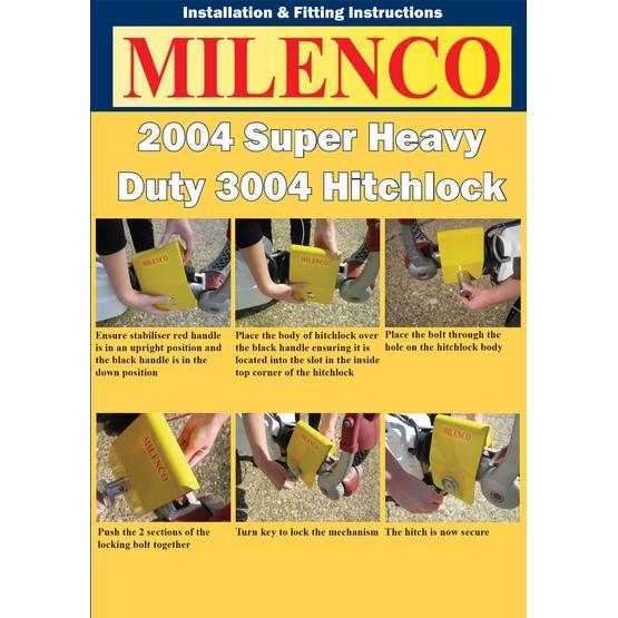 Milenco Heavy Duty 3004 Caravan Hitch Lock image 8