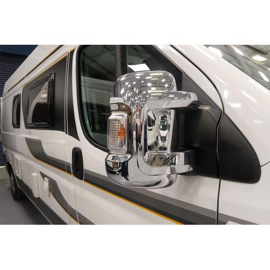 Milenco Motorhome Mirror Covers (Wide Arm) - Chrome image 4