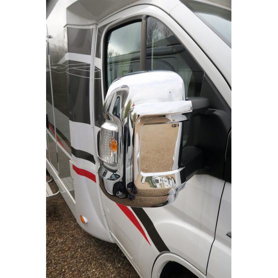 Milenco Motorhome Mirror Covers (Wide Arm) - Chrome image 3