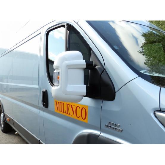 Milenco Motorhome Mirror Protectors White (Wide Arm) image 2