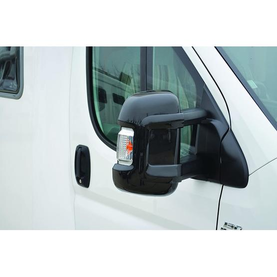 Milenco Motorhome Mirror Protectors (Wide Arm) - Black image 1