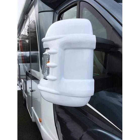 Milenco Motorhome Mirror Protectors White (Wide Arm) image 1