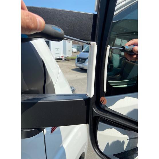 Milenco Motorhome Mirror Protectors White (Wide Arm) image 6