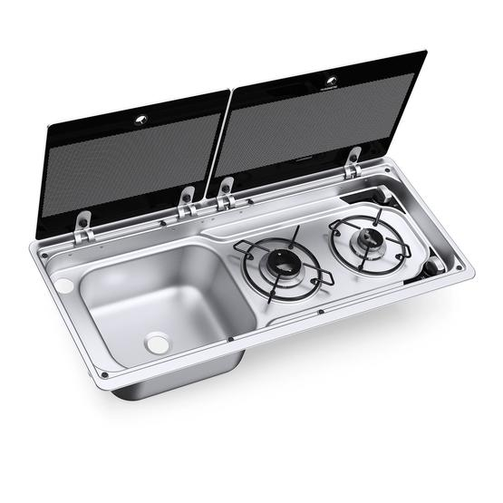 Dometic Smev MO9722 Sink and Hob image 1