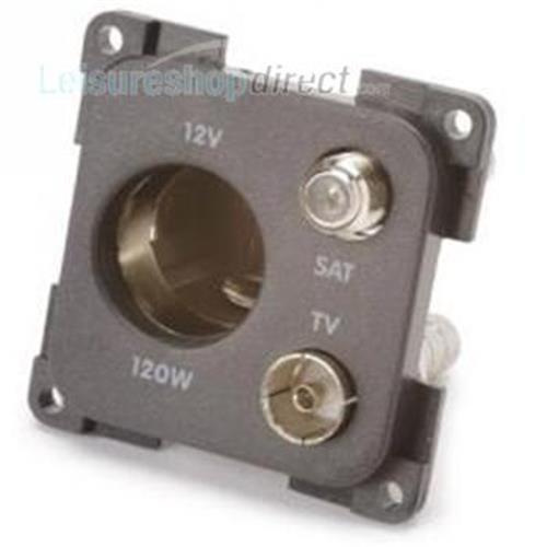 12V standard socket + TV + Satellite