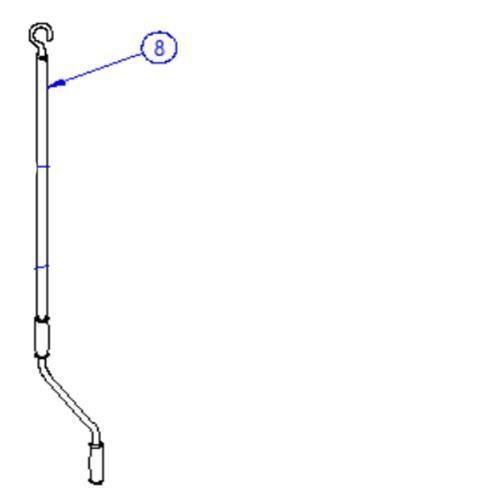 Omnibike winding handle for the manual lift bike rack image 1
