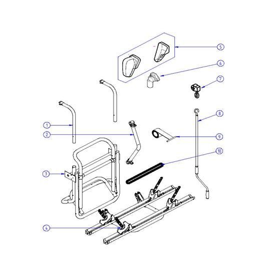 Omnibike winding handle for the manual lift bike rack image 2
