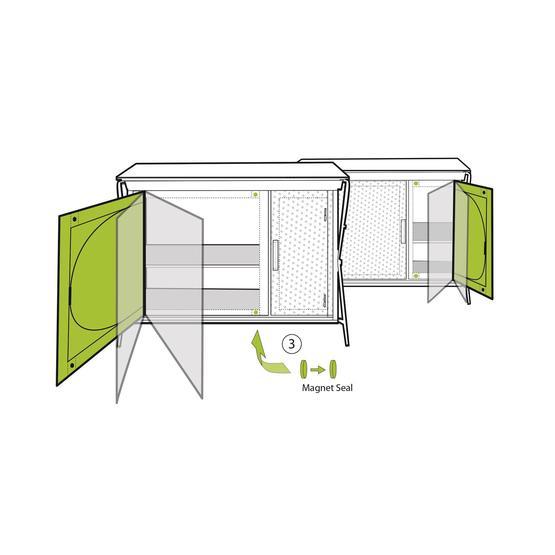 Outwell Aruba Camping Wardrobe / Cupboard image 7