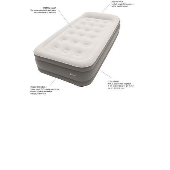 Outwell Flock Superior Double Airbed with Built-in Pump