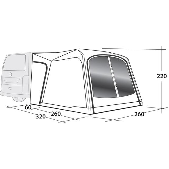 Outwell Milestone Dash Air Driveaway awning 2020 image 6