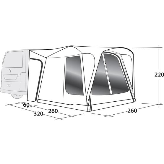 Outwell Milestone Shade Air Driveaway Awning 2020 image 7