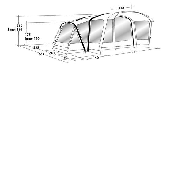 Outwell Hartsdale 6PA Air Tent 2020 image 10