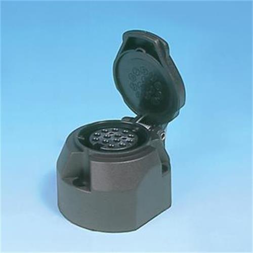 pre packed black 13 pin socket image 1