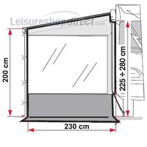 Fiamma Pro Awning Side Panel W image 4