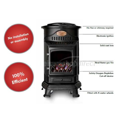 Provence Gas Heater - Matt black image 9