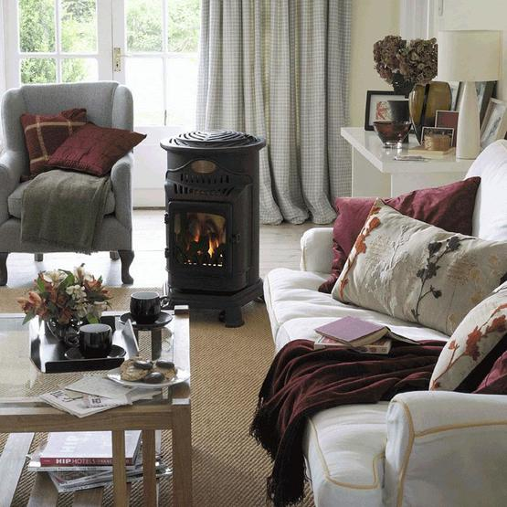 Provence Gas Heater - Matt black image 3