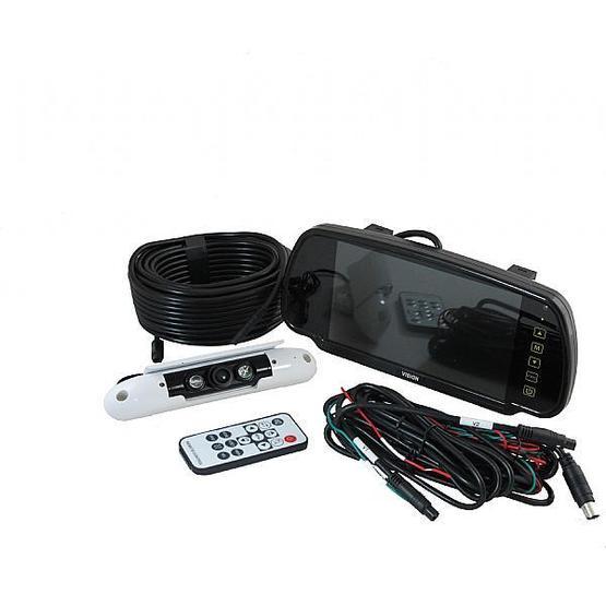 "Ranger 420 - 7"" Clip-over Mirror Monitor / Slim-line Camera System image 1"