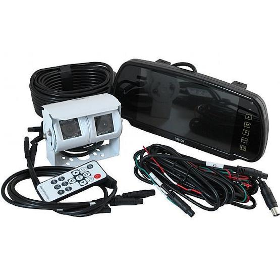 """Ranger 430 - 7"""" Clip-over Mirror Monitor / Dual Camera System image 1"""