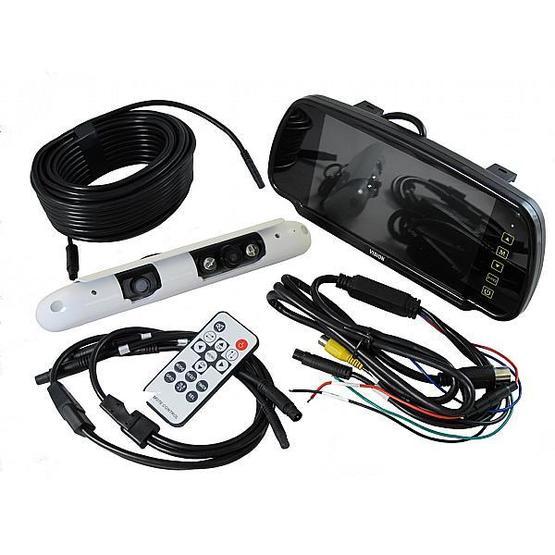"Ranger 440 - 7"" Clip Over Mirror Monitor / Dual Slimline Camera System image 1"