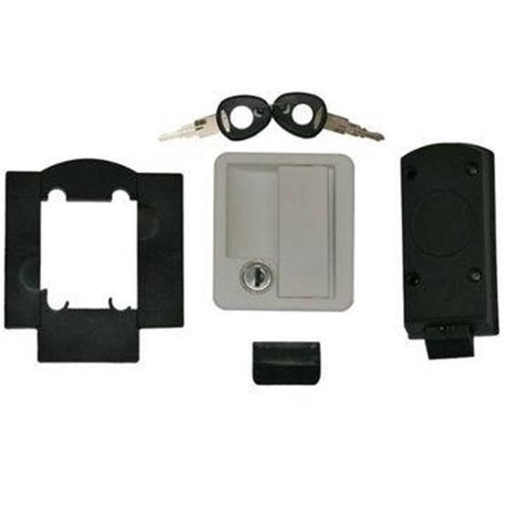 Rectangular Locker Door Lock - white image 1