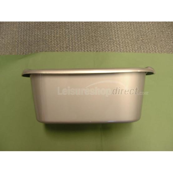 Rectangular Washing Up Bowl, Silver image 1
