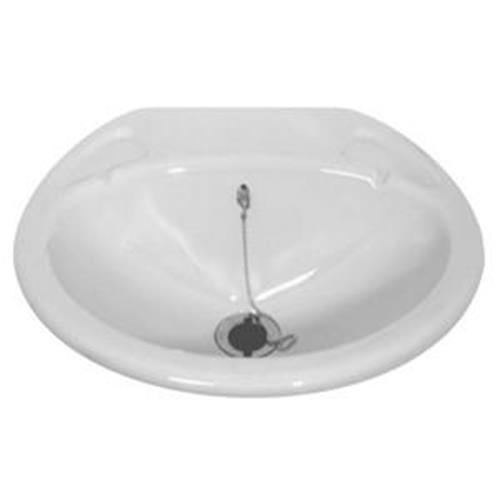 Small Inset Caravan Sink Basin complete with standard waste image 1
