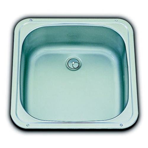 Smev Compact Square Caravan Sink + waste and seal image 1
