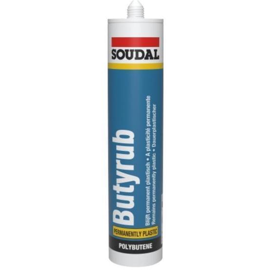Soudal Butyrub Non-Setting (Permanently Plastic) caravan sealant (White) image 1