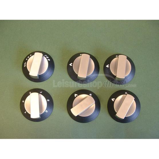 Spinflo knobs set - satin - 6 knobs image 1