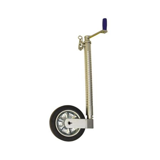 Maypole Heavy Duty Telescopic Ribbed Caravan Jockey Wheel 48mm image 1