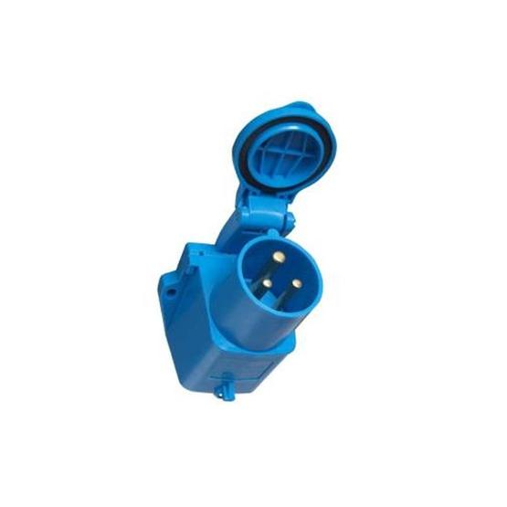 Surface Mounted Mains Inlet - Blue image 1