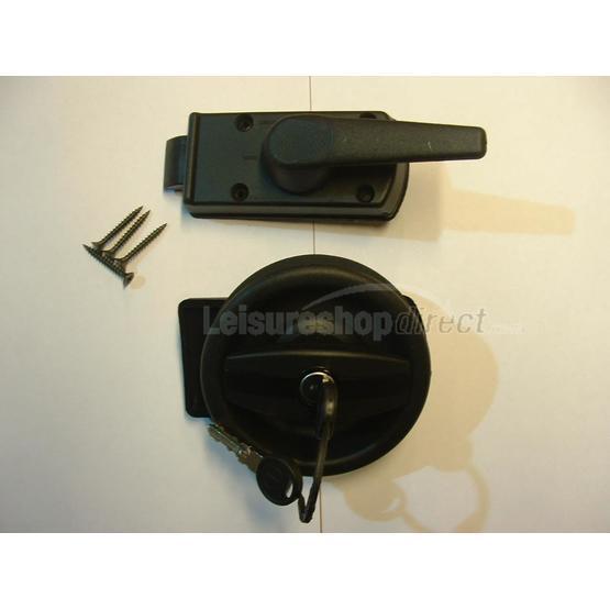 Vecam door lock complete with barrel and keys right hand image 1