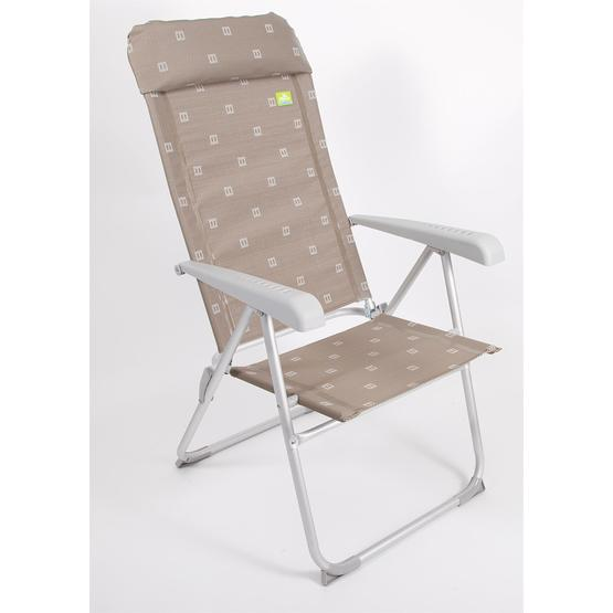 Via Mondo Aluminium Chair in Brown image 1