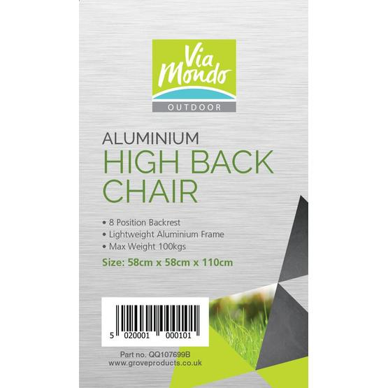 Via Mondo Aluminium Chair in Brown image 2