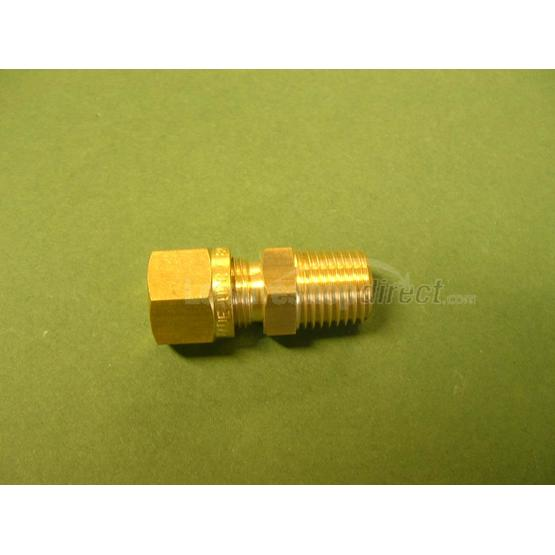 "Wade 8 mm x 1/4"" straight adaptor, comp x male image 1"