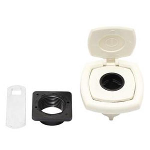 Zadi White Compartment Lock with cover image 1